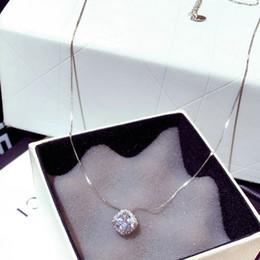 $enCountryForm.capitalKeyWord Australia - Luxury Super Shiny Crystal Diamonds Square Pendant Necklace for Women Silver Gold Chain Chokers Necklace Elegant Jewelry Gift