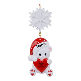 Baby Christmas Gifts Australia - Maxora Bear Baby's First Christmas Personalized Ornament As For Baby First Holiday or New Year Gift, Decoration