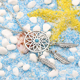 wholesale hockey necklaces NZ - Fashion Sexy Dreamcatcher Alloy Earrings Ancient Silver Dream Catcher Drop Earrings For Women Art Jewelry Gifts Necklace B987F Y