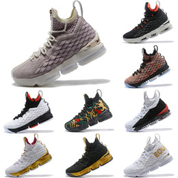 Discount sports king - 2019 Latest KITH x Lebron 15 Rose Gold Long Live the King Mens Basketball Shoes James 15 Sneakers XV Sports Shoes Size 4