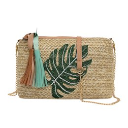 $enCountryForm.capitalKeyWord UK - OCARDIAN 2019 Fashion Simple Women's Girl Straw Messenger Bags Bolsa das senhoras Tassel Pineapple Leaves Wild Shoulder Bag J18
