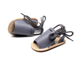 Sandals Infants NZ - Brand New Cute Newborn Infant Baby Girls Boys Lace-up Shoes Toddler Summer Sandals PU Non-slip Rubber Shoes Size 0-24M sandals
