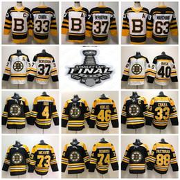 4f2806b38 2019 Stanley Cup Finals Boston Bruins 33 Zdeno Chara 37 Patrice Bergeron 73  Charlie McAvoy Brad Marchand Hockey Jersey David Pastrnak