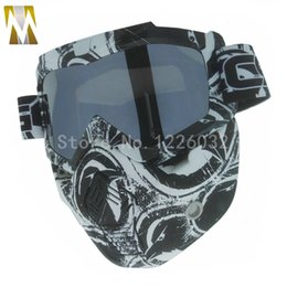 Goggles For Half Helmets Australia - Man Woman Modular Mask Flexible Goggles Glasses Mouth Filter Anti Dust Sand Wind for Open Face Motorcycle Half Helmet Glasses