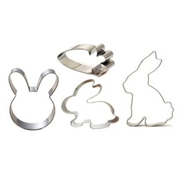rabbit biscuits UK - Egg Rabbit Cookie Cutter For Easter Party Biscuit   Fondant   Pastry   Sandwich Cutter - Stainless Steel For Easter Decoration
