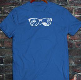$enCountryForm.capitalKeyWord Australia - Beach Vision Glasses California Palm Trees Summer Mens Blue T-Shirt Tee Shirt For Men Amazing Short Sleeve Cotton Custom XXXL Group Tee Shir