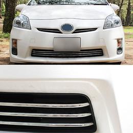 JY SUS304 нержавеющей стали переднего бампера решетка Molding Гарнир уравновешивания крышки Автоаксессуары для PRIUS 30 2010-2011 на Распродаже