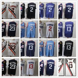 Best shirts online shopping - 2020 New Kawhi Leonard Jersey Best Quality Basketball Stitched Blue City Paul George Black White Lou Williams Jerseys Shirt