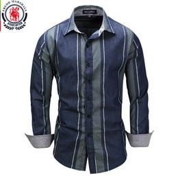 f011b4bc3f Fredd Marshall 2017 New Striped Patchwork Shirts Long Sleeve Casual Dress  Shirt Male Cotton Shirt Brand Camisa Masculina 3XL 079