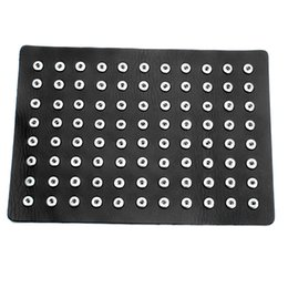 soft genuine leather UK - Hot Snap Button Jewelry Black Genuine Leather 12MM Snap Display Fit 88pcs Buttons DIY Jewelry Soft Displays Holder ZK002