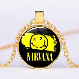$enCountryForm.capitalKeyWord Canada - Cross-border new American rock band nirvana band time gemstone pendant necklace Creative alloy pendant necklace wholesale