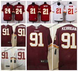 aca2215a6 Elite Washington 4XL Redskins Ryan Kerrigan Football Jerseys 24 Josh Norman  91 Ryan Kerrigan Sean Taylor Red Stitched Football Shirts M-4XL