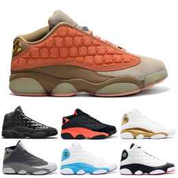 new concept 1c57b 4839b 2019 Clot 13s Mens Basketball Shoes Atmosphere Grey Black Cat Cap And Gown Melo  He Got Game Playoff Flint DMP Sports Sneakers 7-13
