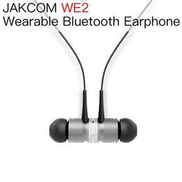 JAKCOM WE2 سماعة لاسلكية يمكن ارتداؤها حار بيع في سماعات الرأس كما صدف كيلين الملابس