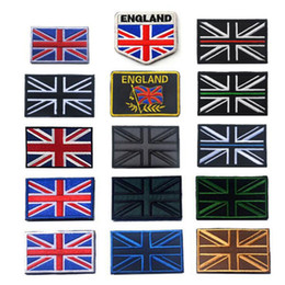 american backpacks Australia - British Flag 3D Embroidery Armband Military Tactics American Soldier Logo Morale Badge Clothing Backpack Hat Decoration Patch