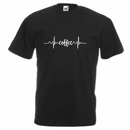 Cotton Coffee UK - Unisex Bla2019 Coffee Heart Rate T-Shirt Shirt Monitor Awake Morning