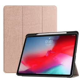Chinese  Ultra Slim Folding Folio PU Leather Case with Pencil Slot for Apple iPad Pro 11 2018 Released Tablet Smart Cover+Stylus manufacturers