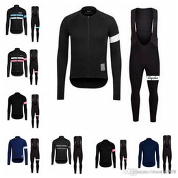 Discount jersey bib team - Rapha team Cycling long Sleeves jersey (bib) pants sets Spring and autumn Breathable Cycling Mens Cycling Clothing E1427