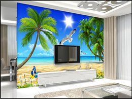 $enCountryForm.capitalKeyWord Australia - custom size 3d photo wallpaper livingroom kids mural coconut tree beach scenery 3d picture sofa TV backdrop wallpaper non-woven wall sticker