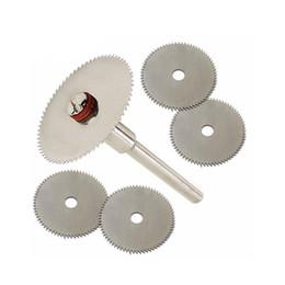$enCountryForm.capitalKeyWord Australia - 6pcs set Mini HSS Circular Saw Blade Rotary Tool For Dremel Metal Cutter Power Tool Set Wood Cutting Discs Drill Mandrel Cutoff