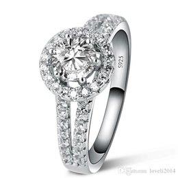 Princess Cut Sterling Silver Ring NZ - 1 Ct Princess Cut Created Diamond Solid 925 Sterling Silver Engagement Bridal Ring engagement diamond rings