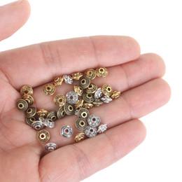 $enCountryForm.capitalKeyWord Australia - 50PCs Dia.6mm Tibetan Metal Beads Antique Gold Silver Oval UFO Shape Loose Spacer Beads for Jewelry Making DIY Bracelet Crafts