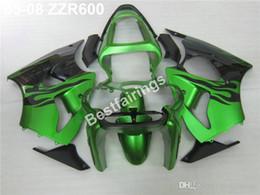 Injection Zzr Australia - Injection mold fairing kit for Kawasaki ZZR600 05 06 07 08 green black fairings set ZZR 600 2005-2008 ZV03