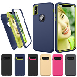 Huawei 3x online shopping - 3 in Hybrid Armor Defender Combo Silicone PC Shockproof Case For MOTO G6 Plus E5 Play GO Z3 Z4 One P30 Note G7 Power P40Alcatel X C