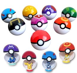 Masters Figure Australia - New Arrival 13 Types Pikachu balls 7cm Anime Ball with Action Figures ABS Super Master Elf Ball Toys Different pokBall Mini Model