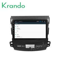 "mitsubishi outlander gps radio NZ - Krando Android 8.1 9"" IPS Full touch car multimedia player for Mitsubishi Outlander 2006-2012 radio navigtaion system GPS wifi car dvd"