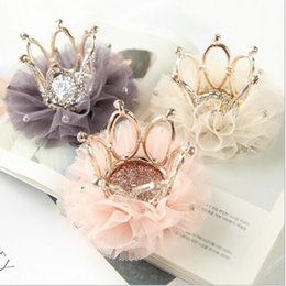 Dog Grooming Hair Clip Australia - 2019 new Pet Cats dog hair clips mesh head flower stereo crown hairpin dog cat general headwear Grooming Accessories