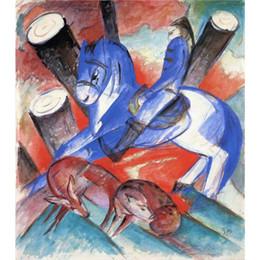 $enCountryForm.capitalKeyWord Australia - Hand painted Franz Marc paintings St Julian the Hospitaller animal art abstract wall decor