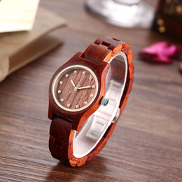 Wooden Gift Tags Australia - Top Brand Wooden Watch Ladies Zebra Wrist Watches For Women Bamboo Wood Band Clock Female Christmas Gift