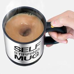 lazy mug Australia - 400ml Mug Automatic Electric Lazy Self Stirring Mug Cup Coffee Milk Mixing Mug Smart Stainless Steel Mix Cup Drinkware Customized DBC VT0991
