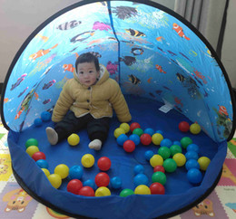 In Cartoon Dolphin Pattern Baby Ball Pit Foldable Washable Toy Pool Children Hexagon Ocean Game Play Tent House Baby Playing Pool Superior Quality