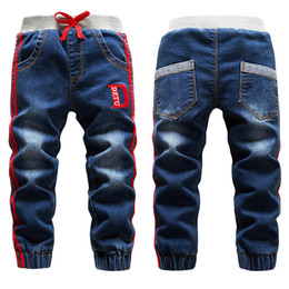 $enCountryForm.capitalKeyWord Australia - Winter Velvet Jeans for Boys Fashion Kids Washing Blue Trousers Girls Thicken Warm Leggings New Children Soft Cotton Pants