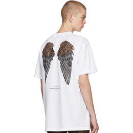 Discount t shirt burlon - Fashion-Marcelo Burlon New arrival T-shirt 2019 summer wings printed Italy designers tee mens designers tshirt