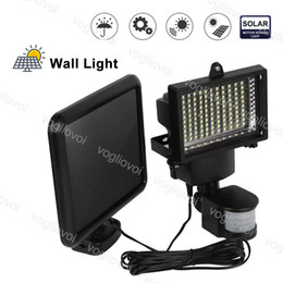 solar security motion floodlight Australia - Solar Security Lighting 100LED SMD2835 PIR Infrared Body Motion Sensor Outdoor Lamp Emergency Path Floodlights Garden Lawn Wall Lamp DHL