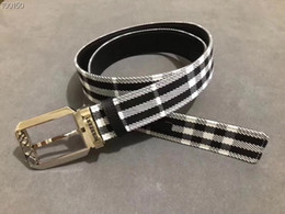 $enCountryForm.capitalKeyWord Australia - Classic plaid combined with eye-catching hand-drawn stripes Mens Belt Authentic Official Belt With Box