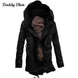 $enCountryForm.capitalKeyWord NZ - 2017 Brand Fashion winter Parka for men Thick Warm zipper Jacket Autumn Outerwear hooded Black Coat mens long jackets