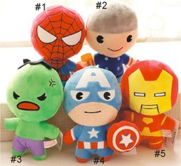 $enCountryForm.capitalKeyWord Australia - Free shipping 20CM The avengers plush dolls toy spiderman toys super heroes avengers Alliance marvel the avengers dolls 2Q version