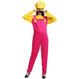 mario costumes women 2019 - Super Mario Bros Female Cosplay Women Costume 505 Mario Dress Cosplay Halloween Christmas Party Role Play cheap mario co