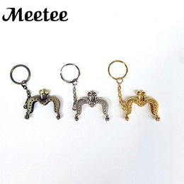 Wholesale Mini Metal Wallet Purse Frame Kawaii Girls Handbag Handle For Clutch Bag Making Kiss Clasp Lock DIY Bag Accessories KY2007