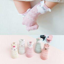 Cute Cartoon pairs online shopping - 5 Pairs Summer Mesh Socks For Newborns Baby Cute Cartoon Socks For Girls Thin Soft Cotton Boy Child Socks