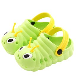 Cartoon Beach Sandals NZ - Baby Girls and Boys Sandals Cartoon Shoes Children Casual Beach Shoes Plastic Sleeve   overshoe girls boys