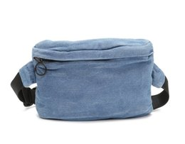 $enCountryForm.capitalKeyWord UK - Vogue Solid Funny Pack Blue Soft Denim Belt Waist Bag Comfort Wearing Lightweight Bum Bag for Running Hiking Cycling