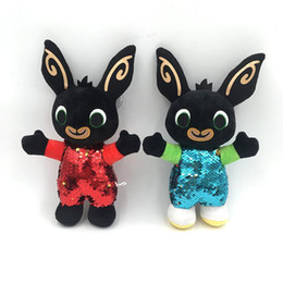 plush bunnies for wholesale NZ - 30cm Sequins Bing Bunny Plush Toys Bing Bunny Stuffed Animals Rabbit Soft Bing's Friends Toy for Children Christmas Gift L106