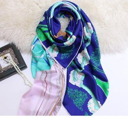 quality beach wraps Australia - Designer Luxury Designer Scarves 135*135CM High Quality Square Scarfs and Shawls Wraps Hijabs Pashmina Beach Coverup Euro Stylish Chic Winte