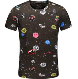 625d4e8364d Crew-Neck T Shirt Men's Printed Cat Letters Round Collar Top Men Nice  Quality Short Sleeves Tee Man