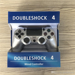 Sony Ps4 Games Australia - DoubleShock PS4 4 Wired Controller Game Joysticks for PS 4 Controller Game Accessories Gamepad for sony Play Station 4